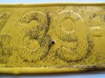 Untitled, Pig's hair on leather, 52x11.5x2 cm, 2010, Detail