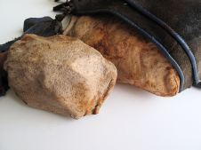 Shoe with Stones, Processed Leather, 'Oded Arama' Shoe, 55x29x12cm, 2014, Detail