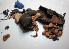 Shoe with Stones, Processed Leather, 'Oded Arama' Shoe, 55x29x12cm, 2014