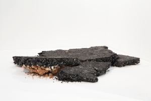 Urban Skin, Processed Leather,mix media. 200x185x30 2014