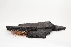 Urban Skin, Processed Leather,mix media. 200x185x30 2014